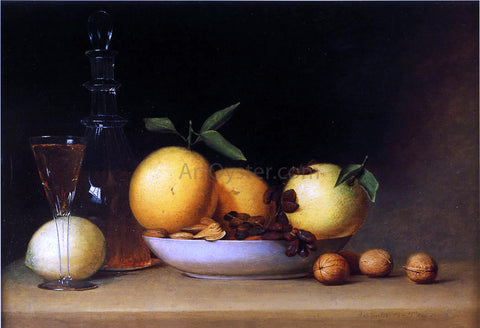 Raphaelle Peale Still Life with Liqueur and Fruit - Hand Painted Oil Painting