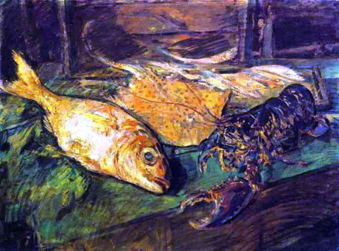 Constantin Alexeevich Korovin Still Life with Lobster - Hand Painted Oil Painting