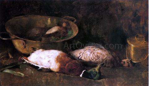 Emil Carlsen Still Life with Mallards and Copper Pots - Hand Painted Oil Painting
