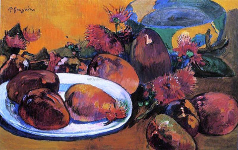 Paul Gauguin Still Life with Mangos - Hand Painted Oil Painting