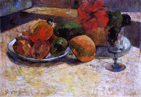 Paul Gauguin Still Life with Mangoes and Hisbiscus - Hand Painted Oil Painting
