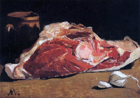 Claude Oscar Monet Still Life with Meat - Hand Painted Oil Painting