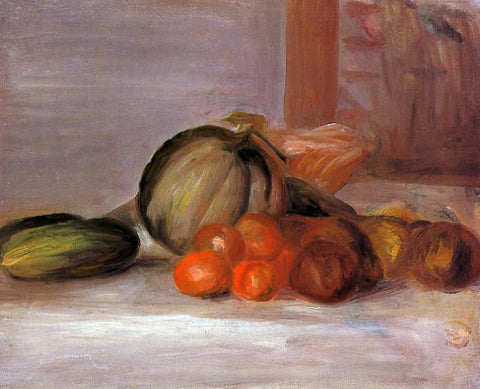 Pierre Auguste Renoir Still Life with Melon - Hand Painted Oil Painting