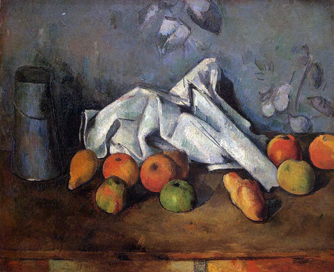 Paul Cezanne A Still Life with Milk Can and Apples - Hand Painted Oil Painting