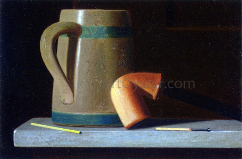 John Frederick Peto Still Life with Mug and Pipe - Hand Painted Oil Painting