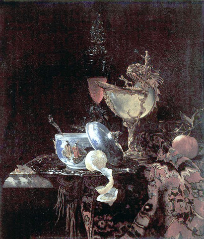 Willem Kalf Still Life with Nautilus Cup - Hand Painted Oil Painting