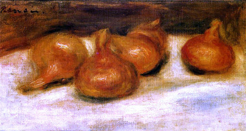 Pierre Auguste Renoir Still Life with Onions - Hand Painted Oil Painting