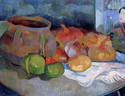 Paul Gauguin Still Life with Onions, Beetroot and a Japanese Print - Hand Painted Oil Painting