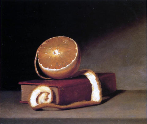 Raphaelle Peale Still Life with Orange and Book - Hand Painted Oil Painting
