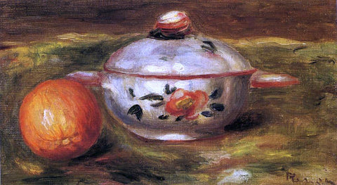 Pierre Auguste Renoir Still Life with Orange and Sugar Bowl - Hand Painted Oil Painting