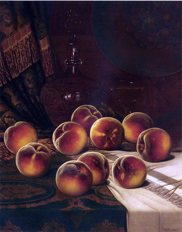 William Mason Brown Still Life with Peaches - Hand Painted Oil Painting