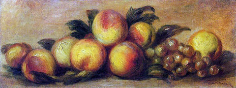 Pierre Auguste Renoir Still Life with Peaches and Grapes - Hand Painted Oil Painting