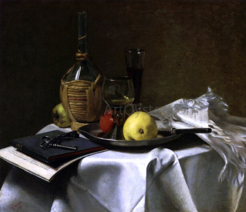 Charles Ethan Porter Still Life with Pears and Cask - Hand Painted Oil Painting