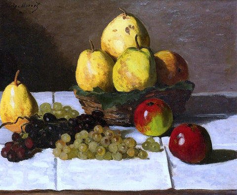 Claude Oscar Monet Still Life with Pears and Grapes - Hand Painted Oil Painting