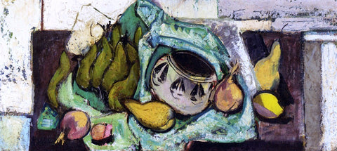 Alfred Henry Maurer Still Life with Pears and Indian Bowl - Hand Painted Oil Painting