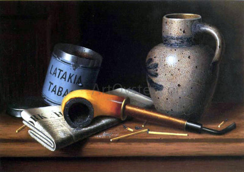 William Michael Harnett Still Life with Pipe and Tobacco - Hand Painted Oil Painting