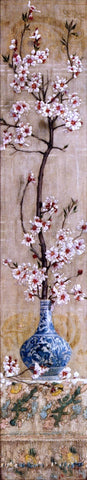 Charles Caryl Coleman Still Life with Plum Blossoms in an Oriental Vase - Hand Painted Oil Painting