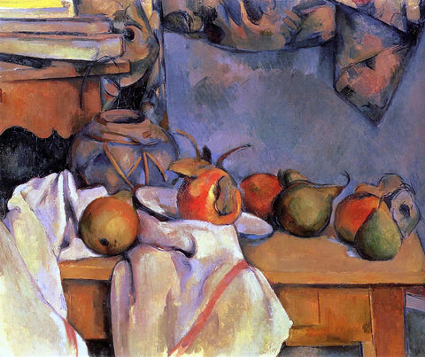 Paul Cezanne Still Life with Pomegranate and Pears - Hand Painted Oil Painting