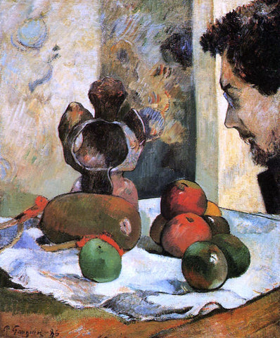 Paul Gauguin Still Life with Profile of Laval - Hand Painted Oil Painting