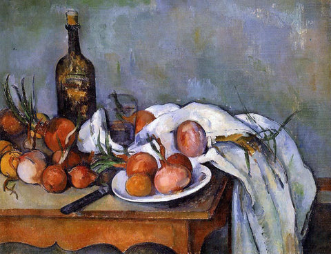 Paul Cezanne A Still Life with Red Onions - Hand Painted Oil Painting