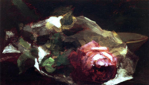 John La Farge Still Life with Rose - Hand Painted Oil Painting