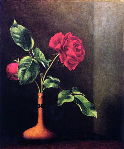 Martin Johnson Heade Still LIfe with Rose - Hand Painted Oil Painting