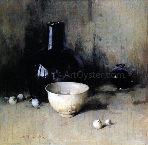 Emil Carlsen Still Life with Self-Portrait Reflection - Hand Painted Oil Painting