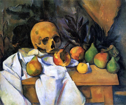 Paul Cezanne Still Life with Skull - Hand Painted Oil Painting