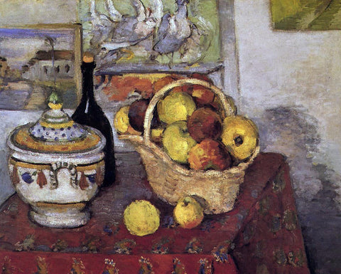 Paul Cezanne Still Life with Soup Tureen - Hand Painted Oil Painting