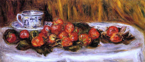 Pierre Auguste Renoir Still Life with Strawberries - Hand Painted Oil Painting