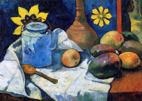 Paul Gauguin Still Life with Teapot and Fruit - Hand Painted Oil Painting