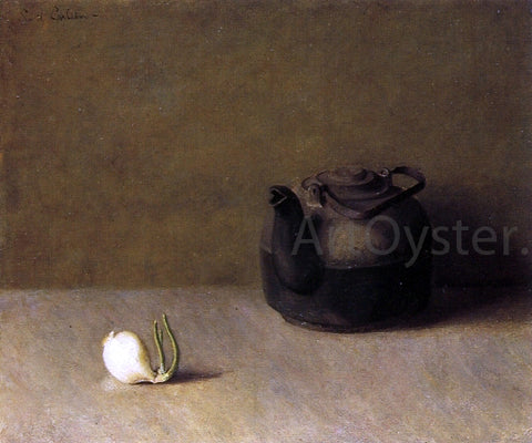 Emil Carlsen Still Life with Teapot and Onion - Hand Painted Oil Painting