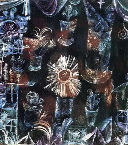 Paul Klee Still Life with Thistle Bloom - Hand Painted Oil Painting