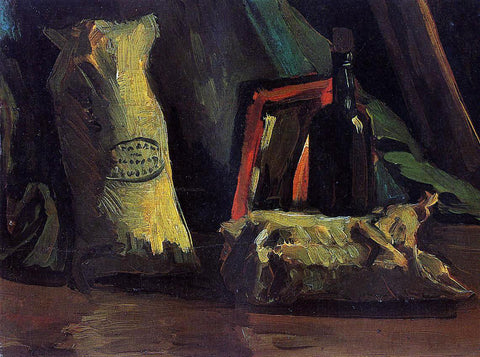 Vincent Van Gogh Still Life with Two Sacks and a Bottle - Hand Painted Oil Painting
