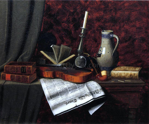 William Michael Harnett Still Life with Violin - Hand Painted Oil Painting