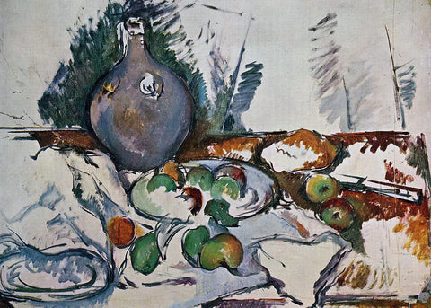Paul Cezanne Still Life with Water Jug - Hand Painted Oil Painting