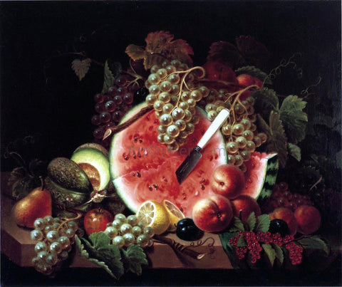 Thomas Whightman Still Life with Watermelon - Hand Painted Oil Painting