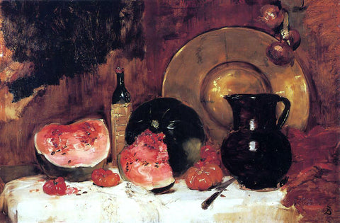 Frank Duveneck Still Life with Watermelon - Hand Painted Oil Painting