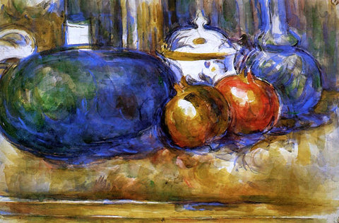 Paul Cezanne Still Life with Watermelon and Pemegranates - Hand Painted Oil Painting