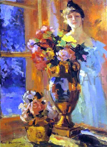 Constantin Alexeevich Korovin Still Life with Z. Pertseva's Portrait - Hand Painted Oil Painting