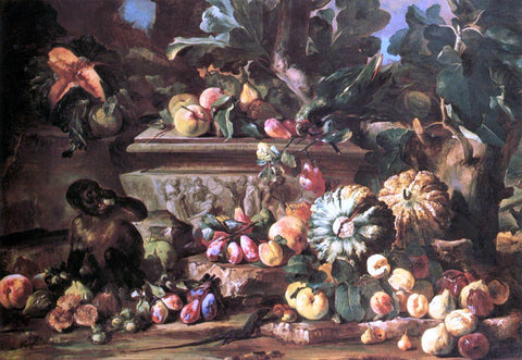 Michele Pace Del Campidoglio Still-Life - Hand Painted Oil Painting