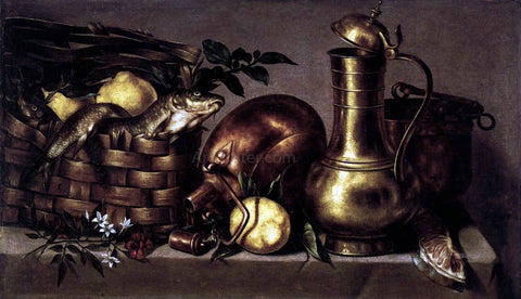 Antonio Ponce Still-Life in the Kitchen - Hand Painted Oil Painting