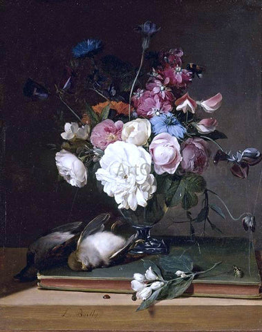 Louis Leopold Boilly Still-Life of Flowers in a Glass Vase - Hand Painted Oil Painting