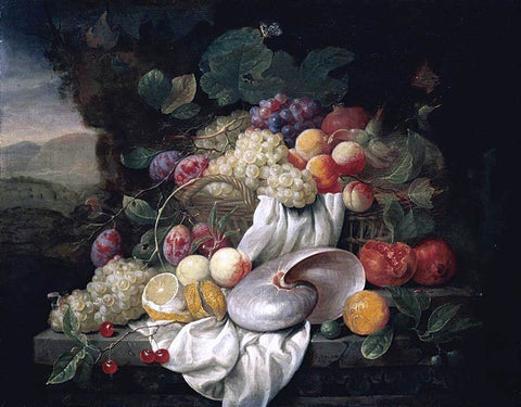 Joris Van Son Still-Life of Fruit - Hand Painted Oil Painting