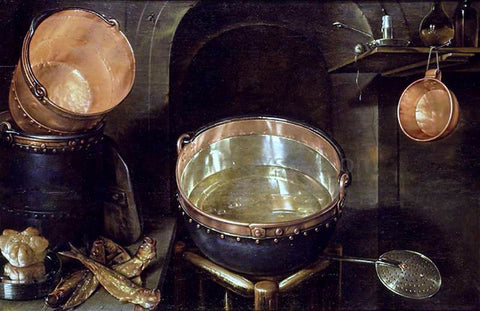 Cornelis Jacobsz Delff Still-Life of Kitchen Utensils - Hand Painted Oil Painting