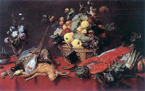 Frans Snyders Still-Life with a Basket of Fruit - Hand Painted Oil Painting