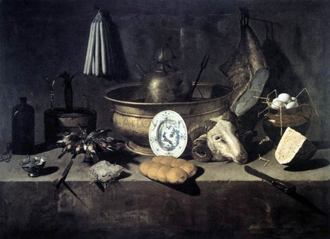 Giuseppe Recco Still-Life with a Head of a Ram - Hand Painted Oil Painting