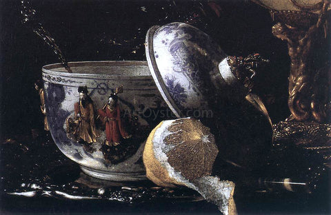 Willem Kalf Still-Life with a Nautilus Cup (detail) - Hand Painted Oil Painting