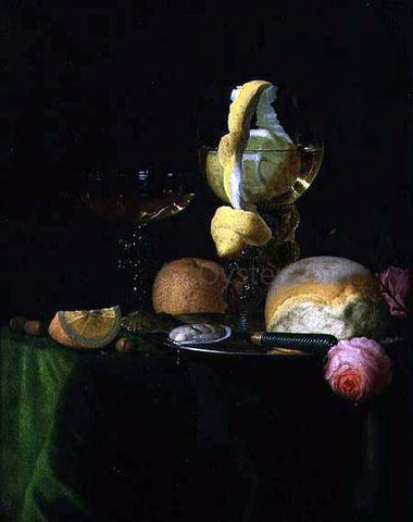 Simon Luttichuijs Still-Life with a Peeled Lemon in a Roemer - Hand Painted Oil Painting