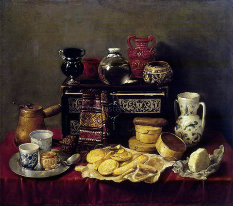 Antonio De Pereda Still-Life with an Ebony Chest - Hand Painted Oil Painting